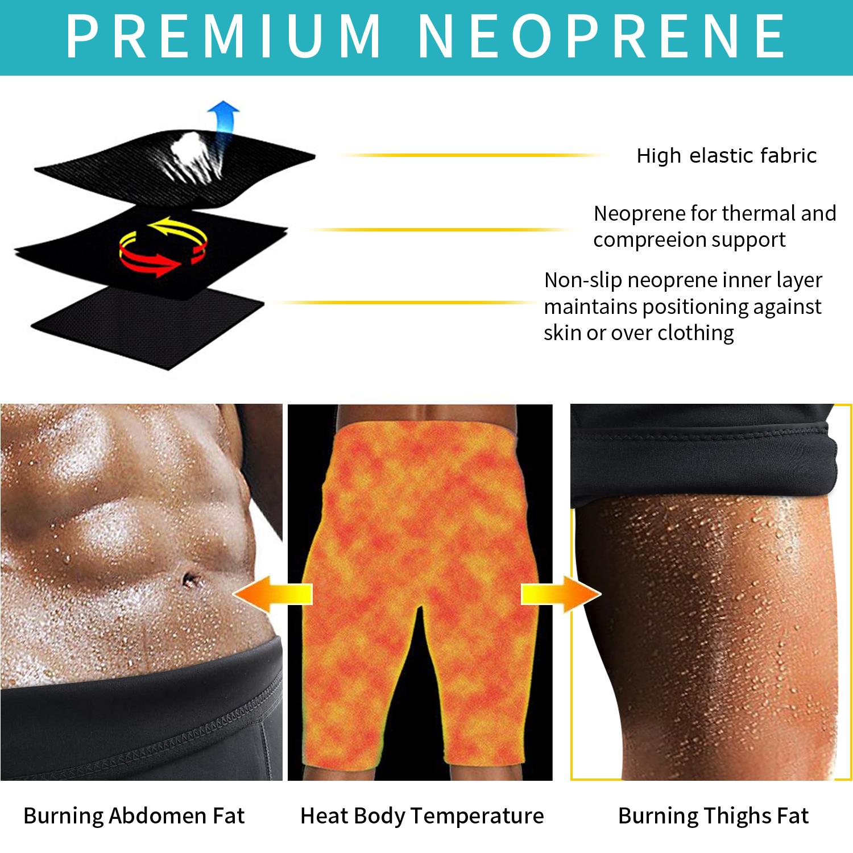 3d87147b52915 AGROSTE Men s Weight Loss Sauna Hot Sweat Thermo Shorts Body Shaper  Neoprene Athletic Yoga Pants Gym Tummy Fat Burner Slimming Sport Pant -  Walmart.com