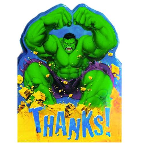 Incredible Hulk Animated Thank You Notes w/ Env. (8ct)