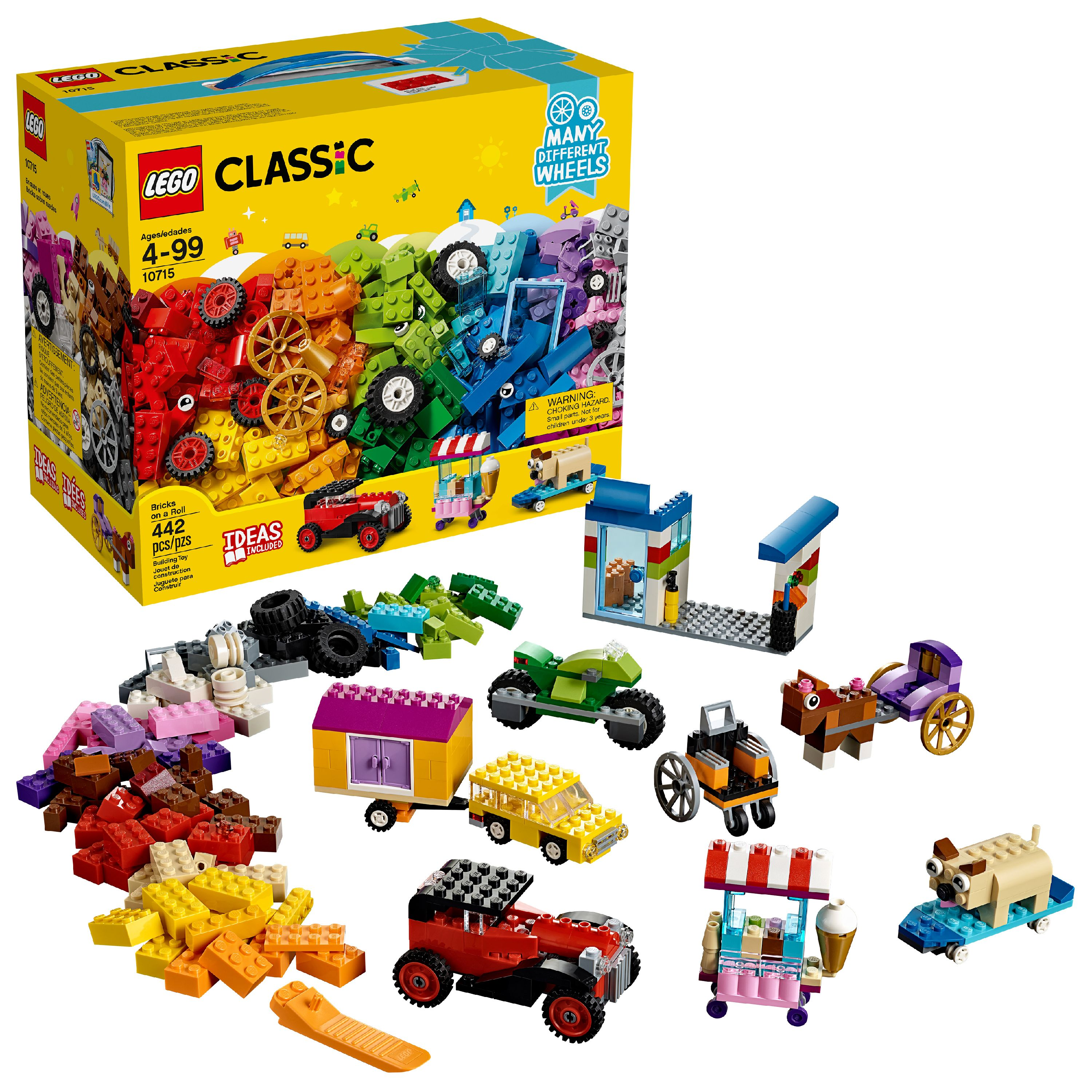 LEGO Classic Bricks on a Roll 10715 Building Kit (442 Pieces)