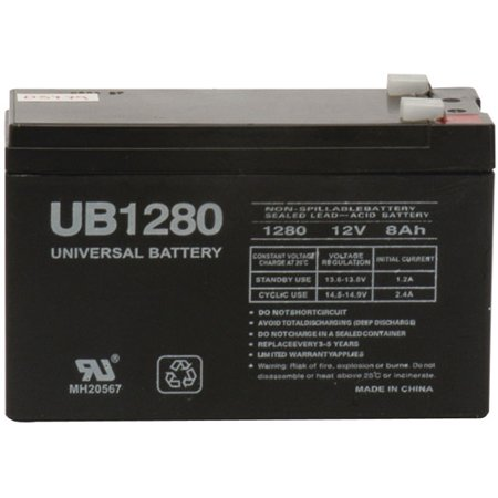 UPG 85989/D5779 Sealed Lead Acid Batteries (12V; 8 AH; .250 Tab Terminals; UB1280F2)