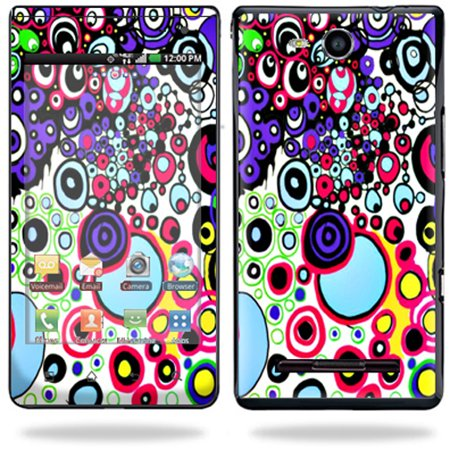 Circle Mobile (Skin Decal Wrap for LG Lucid 4G LTE Cell Phone Sticker sticker Circle Explosion)