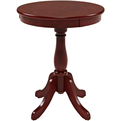 Round Pedestal Side Table, Multiple Colors
