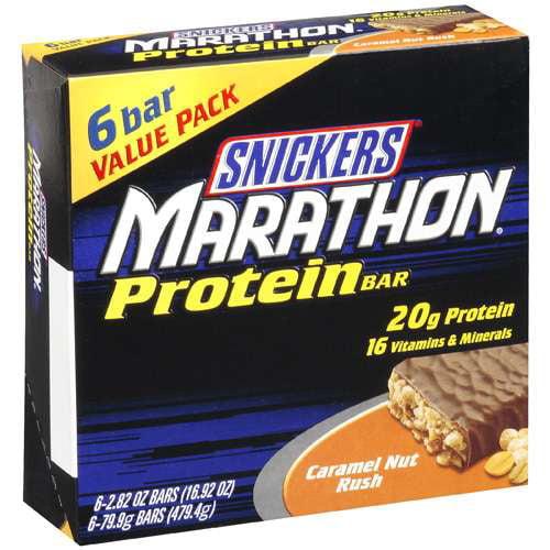 Snickers Caramel Nut Rush Marathon Protein Bar, 479.4g