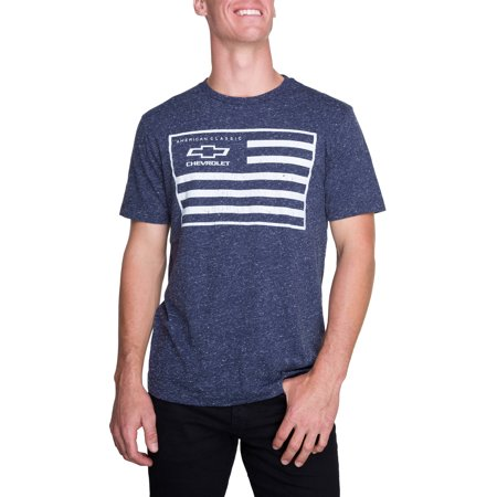 Mens Short Sleeve General Motors Chevy Flag Graphic T Shirt