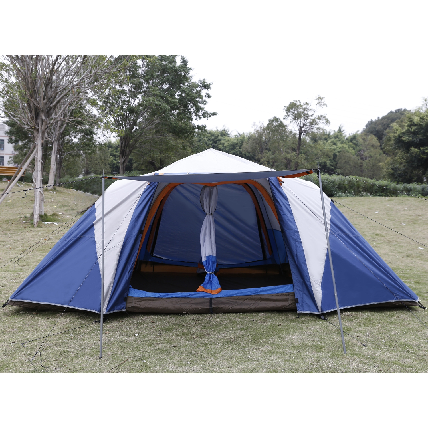 Waterproof 210D 6-8 Person Dome Tent 2 rooms C&ing Automatic Instant Hiking Tent with  sc 1 st  Walmart & Waterproof 210D 6-8 Person Dome Tent 2 rooms Camping Automatic ...