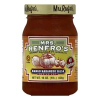 Mrs Renfros Medium Hot Mango Habanero Salsa, 16 OZ (Pack of 6)