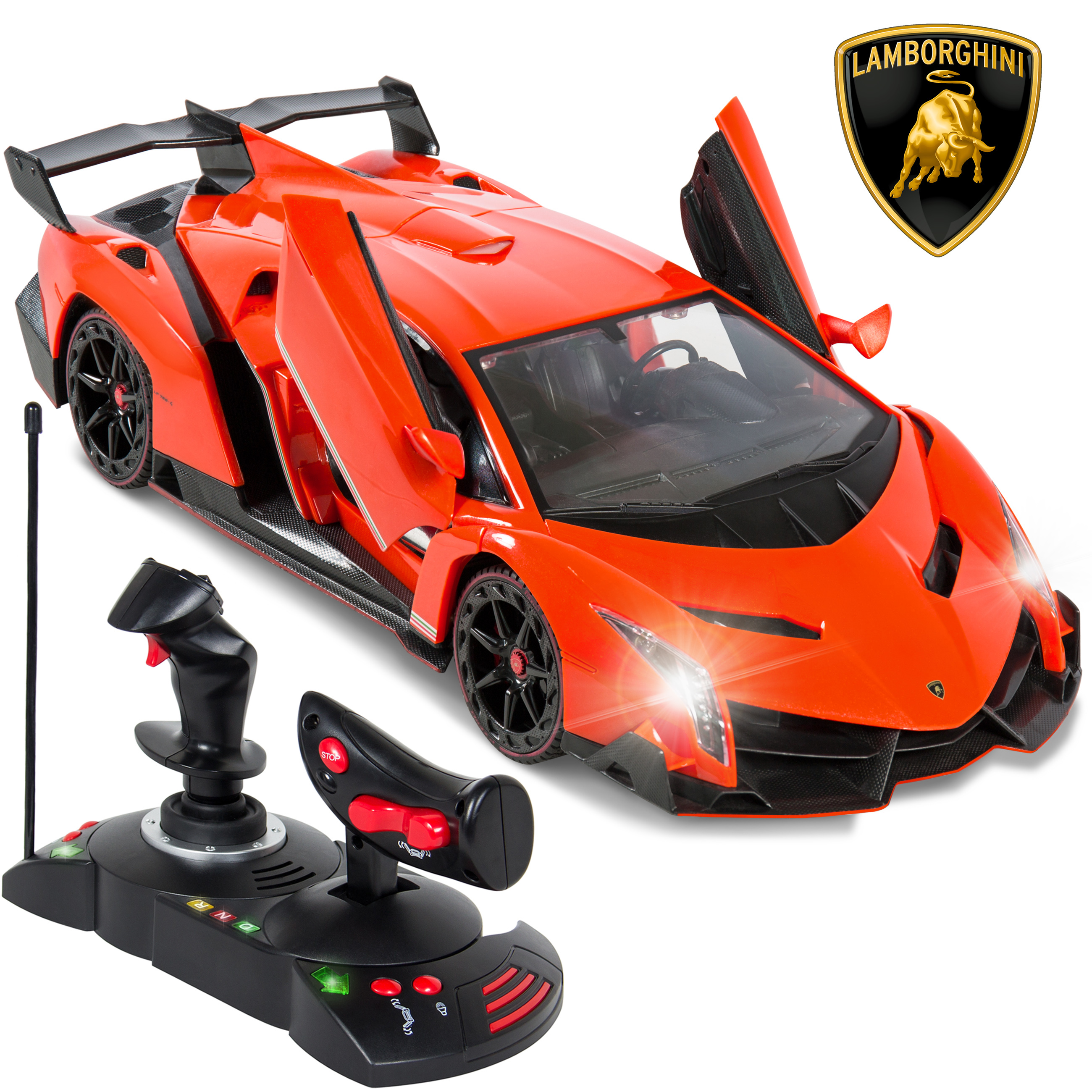 Best Choice Products 1/14 Scale RC Lamborghini Veneno Gravity Sensor Radio Remote Control Car Orange