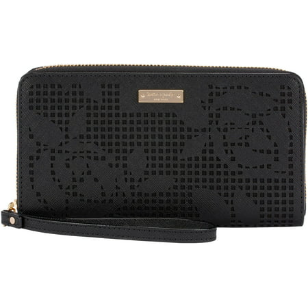 kate spade new york Zip Wristlet - Case for cell phone - perforated rose black ()