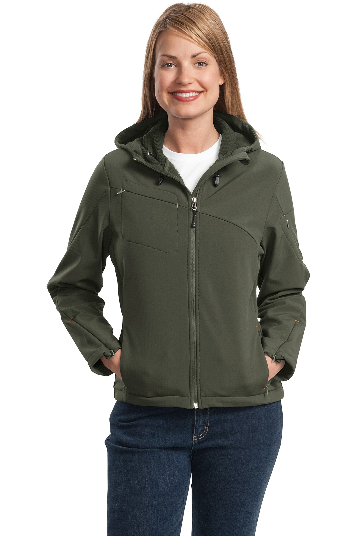 Textured Hooded Soft Shell Jacket