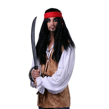 black jack sparrow halloween costume wig - Jack Sparrow Halloween Costumes