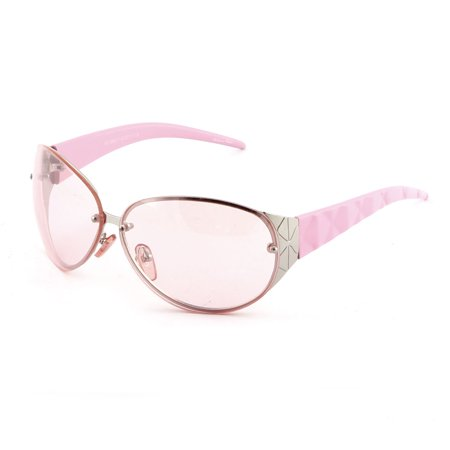 Women Plastic Arm Metal Frame Oval Shaped Full Rim Stylish Sunglass (Stylish Sunglass)