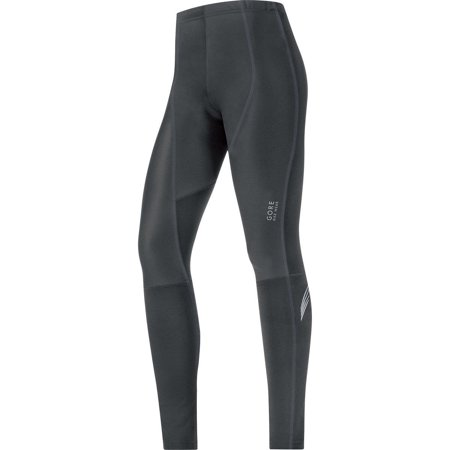 GORE BIKE WEAR Womenâ??s Long Warm Soft Shell Cycling Tights, GORE WINDSTOPPER, ELEMENT LADY WS SO Tights, TWELEL Black X-Large Gore Ws Thermal Tight
