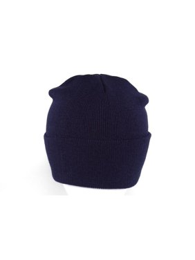 6e28222bfe0 Product Image Long Knit Beanie Ski Cap Hat in Navy Blue