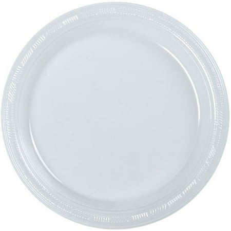 "50ct Plastic Clear 10"" Plates Wedding Party Dinnerware"