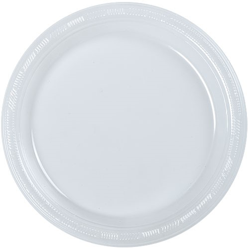 50ct Plastic Clear 10  Plates Wedding Party Dinnerware  sc 1 st  Walmart & Clear Plastic Plates