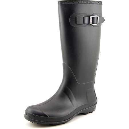 Kamik Olivia Women Round Toe Synthetic Black Rain Boot
