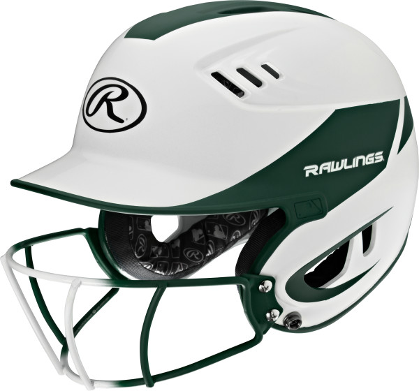Rawlings Velo Senior 2-Tone Softball Batting Helmet w Faceguard
