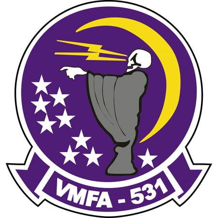 - 5.5 Inch Marine Corps VMFA 531 Grey Ghosts Decal