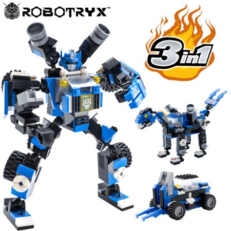 Robot STEM Toy | 3 In 1 Fun Creative Set | Construction Building Toys For Boys Ages 6-14 Years Old | Best Toy Gift For Kids | Free Poster Kit - Gifts For 9 Year Old Boy