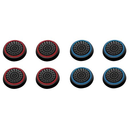Insten 8 pcs Red & Blue Controller Analog Thumbstick Cap for Microsoft Xbox 360/Xbox One Sony PlayStation 2/3/4