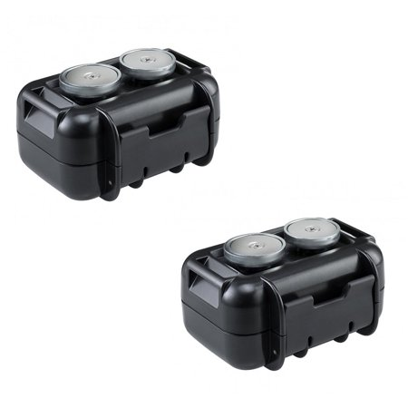 2 Pack Spy Tec M2 Waterproof Magnetic Case for STI GL300 Real-Time GPS