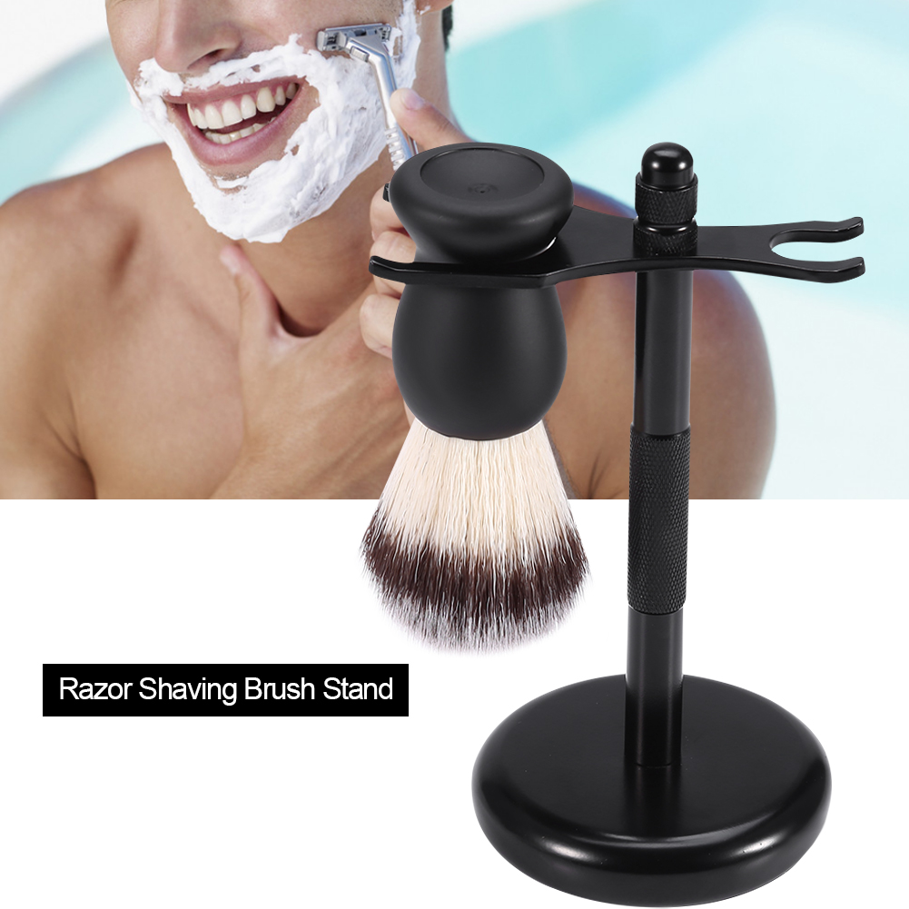 Razor Shaving Brush Stand Zinc Alloy Holder Stable Well Balanced Mustache Shaver Brush Stand   , Manual Shaver Holder, Razor Holder