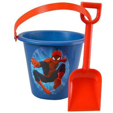 Marvel Spiderman Beach Sand Bucket and Shovel - Sand Buckets