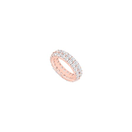 Three Carat Diamond Eternity Band In 14k Rose Gold Third And