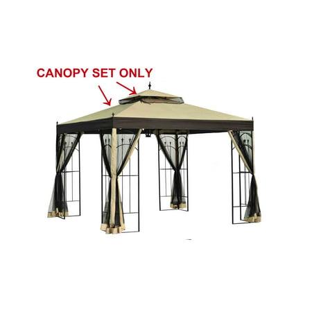 Sunjoy Replacement Canopy Set for L-GZ038PST-3 Arrow Gazebo