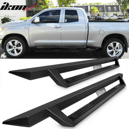 Fits 07-18 Toyota Tundra Double Cab IKON V1 Style Steel Running Boards (2008 Toyota Tundra Running Boards)
