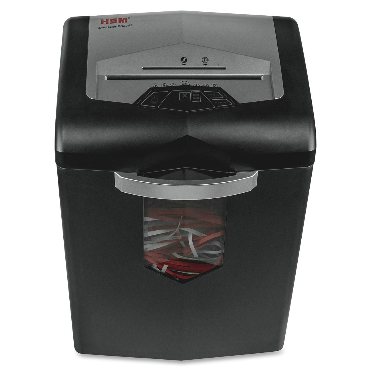 HSM shredstar PS825s Strip-Cut Shredder, Black
