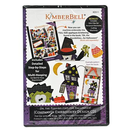 Kimberbell Machine Embroidery CD Oh the Possibilities for Halloween Companion CD - Kimberbell Halloween