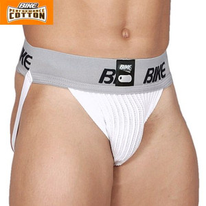 "Bike BASP10B adult TWO pack 3"" waistband cotton jock strap supporters"