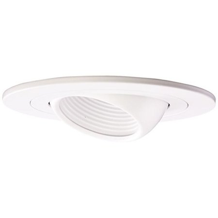 Elco Lighting Low Voltage Adjustable Eyball 4'' Recessed Trim