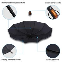 Naccgty Folding Umbrella, Windproof Folding Umbrella,HURRISE Folding Travel Umbrella Automatic Windproof Compact Portable Rain Umbrellas 10 Ribs Sto