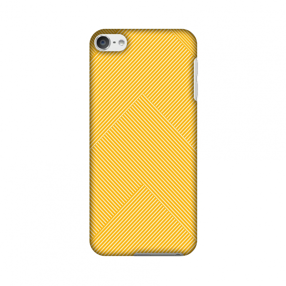 iPod Touch 6th Generation Case, Premium Slim Fit Handcrafted Printed Designer Hard Snap On Shell Case Back Cover for iPod Touch 6th Gen - Carbon Fibre Redux Cyber Yellow 4