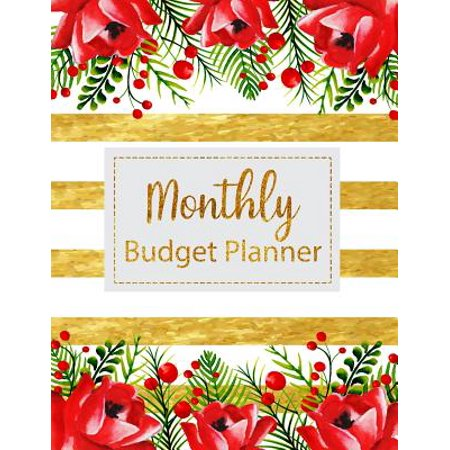 monthly budget planner floral vintage stripes weekly expense