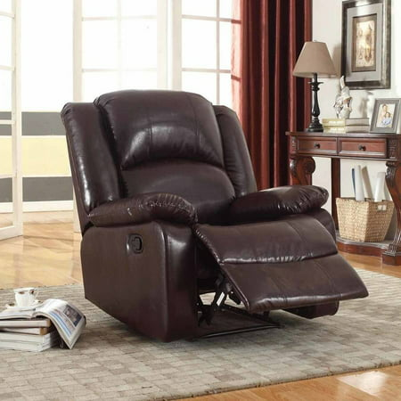 Nathaniel Home Samantha Bonded Leather Glider Recliner