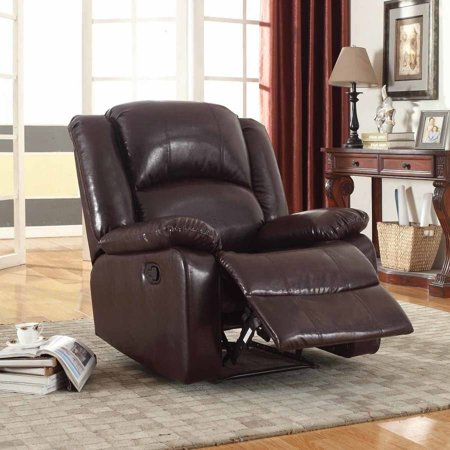 Nathaniel Home Samantha Bonded Leather Glider Recliner  Multiple Colors