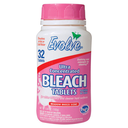 Evolve Meadow Breeze Scent Ultra Concentrated Bleach Tablets, 32 count, 5.64 oz