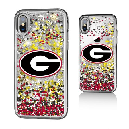 Georgia Bulldogs Cell Phone Cover - UGA Georgia Bulldogs Confetti Glitter Case for iPhone X