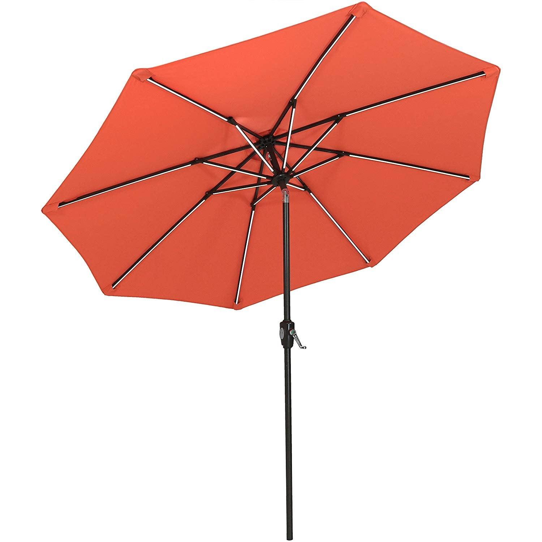 9ft Outdoor Patio Umbrella With Push Button Tilt And Crank For Garden Or Market