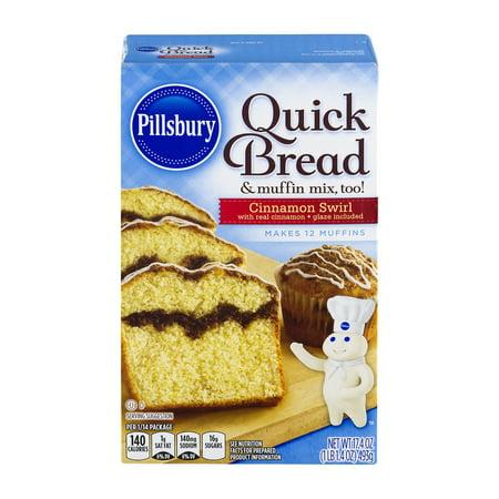 (3 Pack) Pillsbury Cinnamon Swirl Quick Bread & Muffin Mix, 17.4 oz