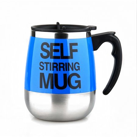 Plain Demi Cup - Minch Automatic Plain Mixing Stainless Steel Coffee Tea Cup Lazy Self Stirring Mug
