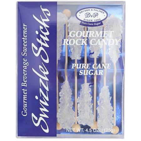 Dryden & Palmer D& P  Swizzle Sticks, Gourmet Rock Candy, 4.5 oz
