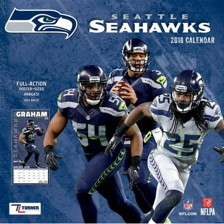 Turner Sports Seattle Seahawks 2018 12X12 Team Wall Calendar