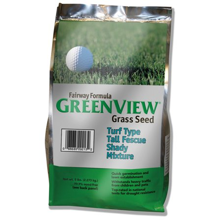 GreenView Fairway Formula Turf Type Tall Fescue Shady Grass Seed Mixture, bag 5 lb Brulee 5 Lb Bag