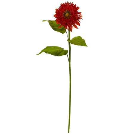 "Shari White Sunflowers (Nearly Natural 26"" Sunflower Artificial Flower (Set of 6) )"