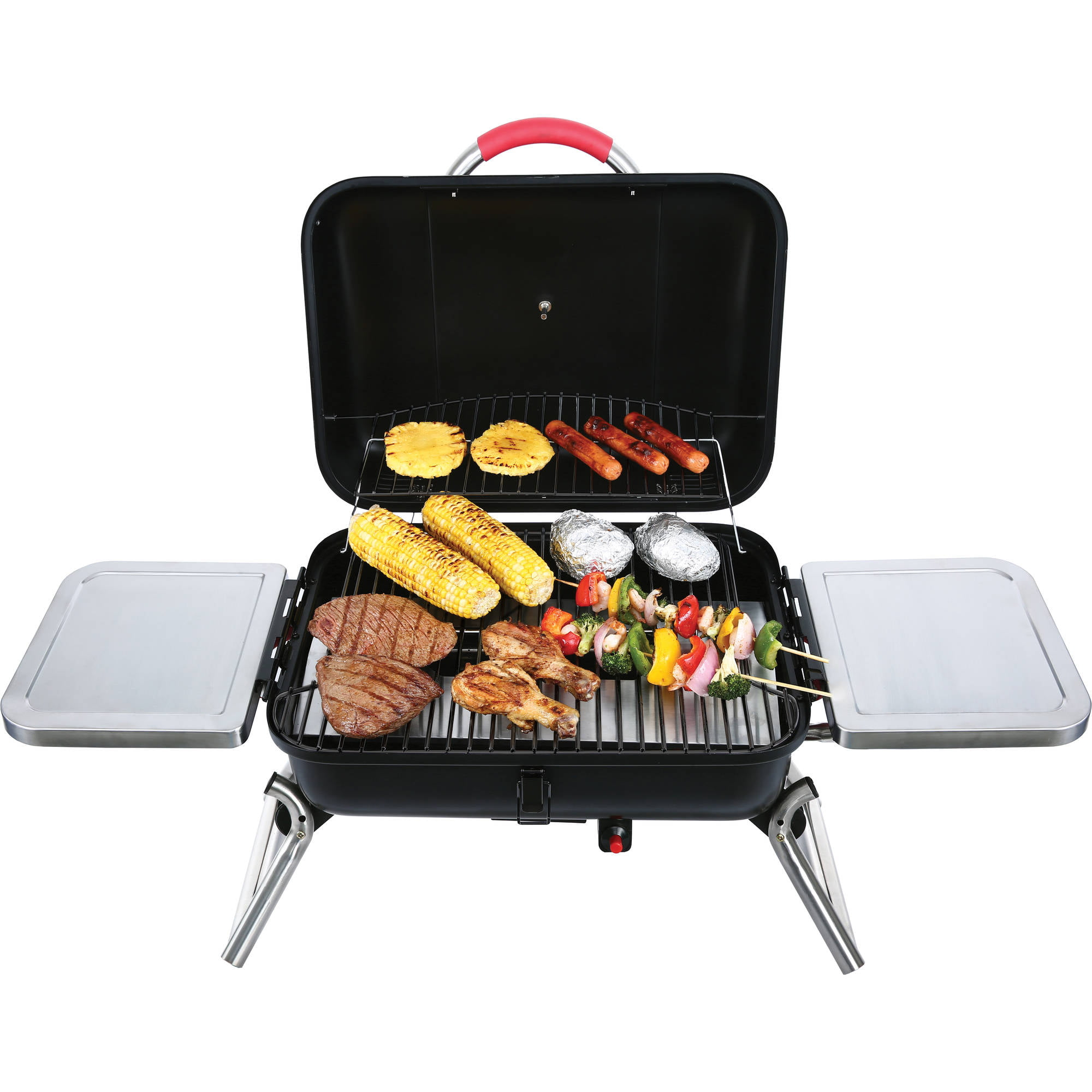 small gas grill tabletop table top portable outdoor bbq. Black Bedroom Furniture Sets. Home Design Ideas