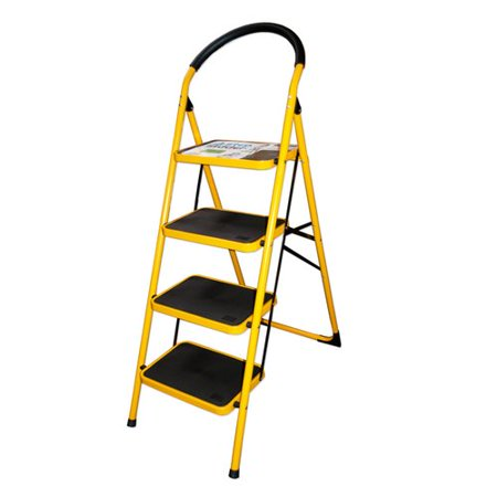 Kole Imports 4-Step Metal Step Ladder with 300 lb. Load Capacity